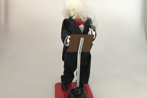 Paya Figur Dirigent aus Blech mit echter Stoffbekleidung Ansicht Front
