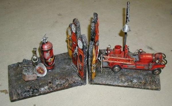 Buchstützen Feuerwehr-Oldtimer - Feuerlöscher etc.
