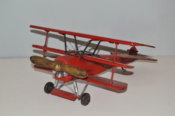 Fokker Dreidecker-Jagdflugzeug Dr. I Ansicht links
