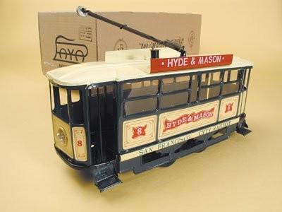 Paya Straßenbahn mit Karton Ansicht rechts