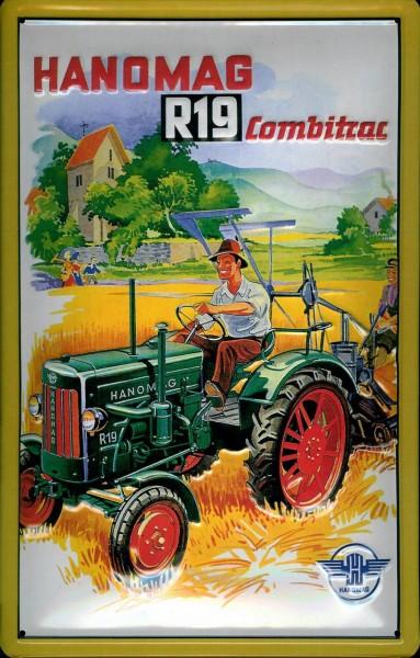 Blechschild 20x30 HANOMAG Schlepper Programm Traktor Bulldog Werbung Reklame