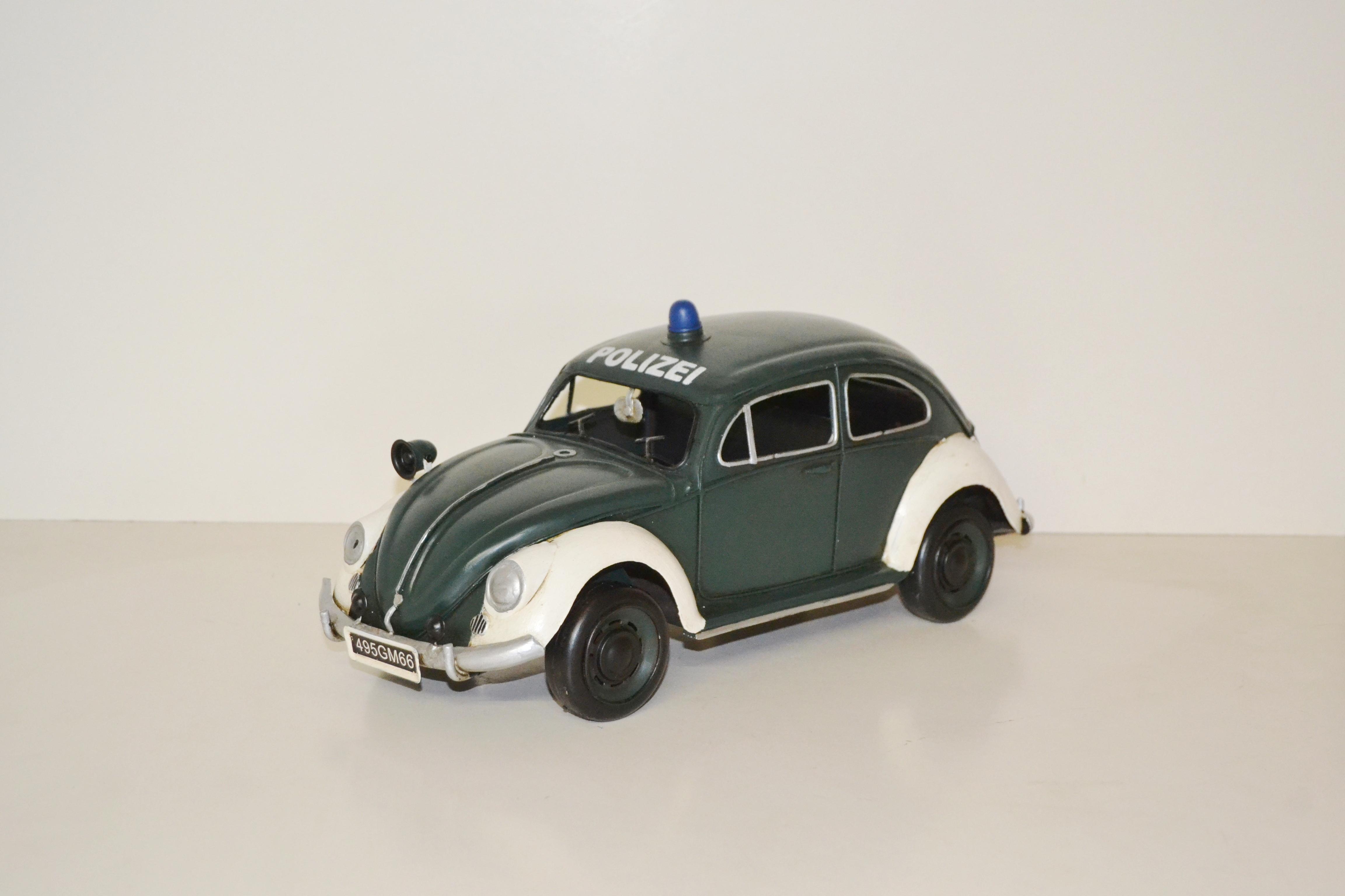 polizei vw k fer modell streifenwagen oldtimer polizeiauto. Black Bedroom Furniture Sets. Home Design Ideas