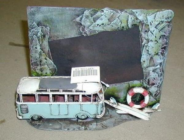 Diorama VW-Bulli mit Bilderrahmen