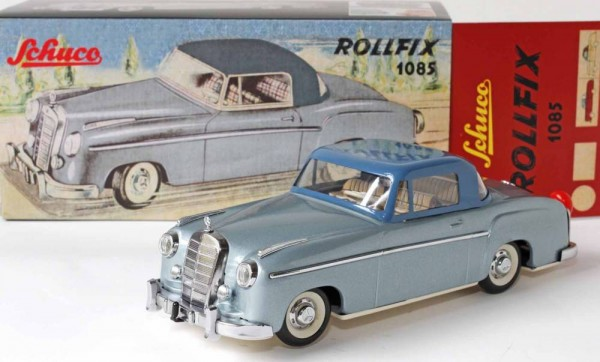 Schuco Classic Rollfix 1085 Mercedes Benz 220 S Coupe Ansicht links mit Karton
