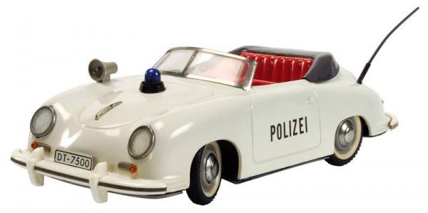 Schuco Polizei - Distler Porsche 356 Cabriolet Modell Ansicht links nah