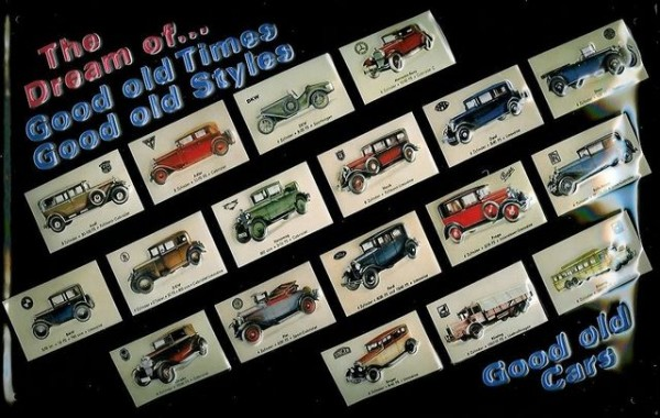 """Blechschild Oldtimer-Automobile """"Good old Cars"""""""