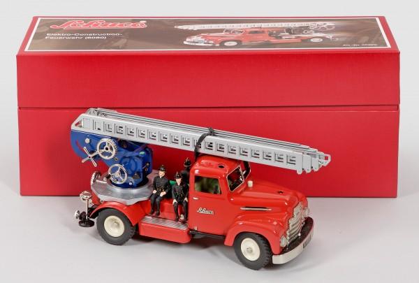 Schuco Construction Feuerwehr 6080 Jubiläum 90 Jahre Schuco Ansicht rechts mit Karton