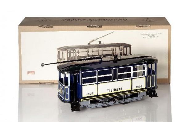 Paya Straßenbahn mit Karton Ansicht links Front