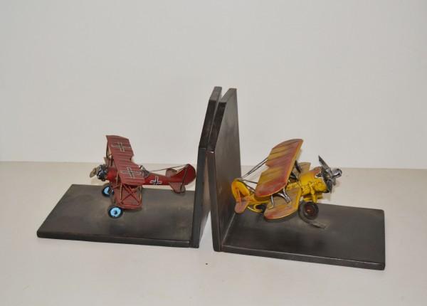 Buchstützen Roter Baron - Gulf Hawk Doppeldecker
