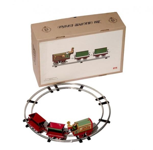 Paya Schienentraktor mit zwei Kipploren Schienenkreis 50 cm mit Karton
