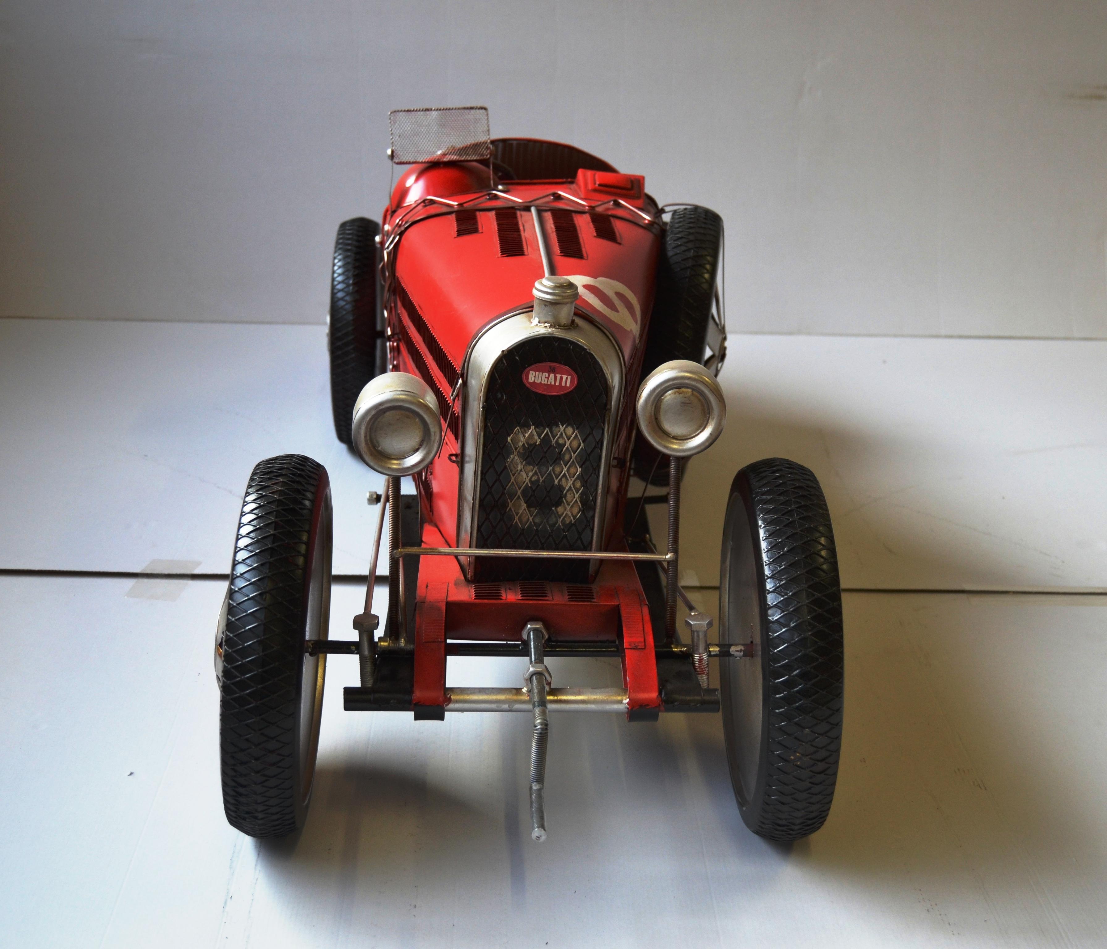 gro modell aus blech bugatti oldtimer modell t 35 c gro es. Black Bedroom Furniture Sets. Home Design Ideas