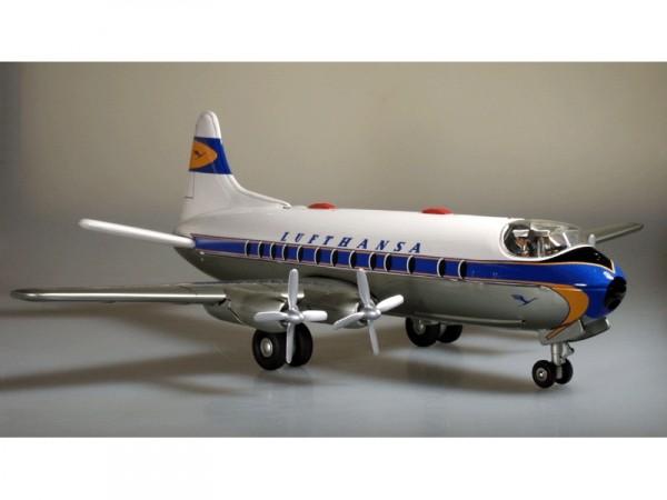 """Schuco Flugzeug Elektro Radiant 5600 """"Lufthansa"""" Sondermodell Ansicht rechts-Front"""
