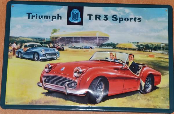 Blechschild Triumph T.R.3 Sports Reklameschild