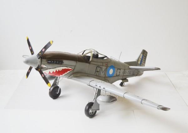 Mustang P51 Jagdflugzeug - Großmodell Ansicht links