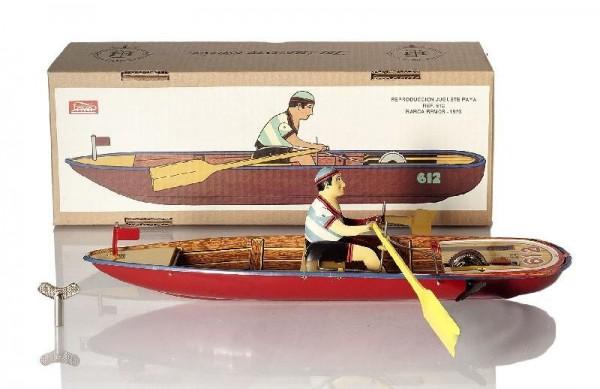Paya Ruderboot mit Karton Ansicht links