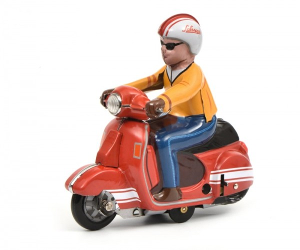 Schuco Motorrad Scooter rot Ansicht links