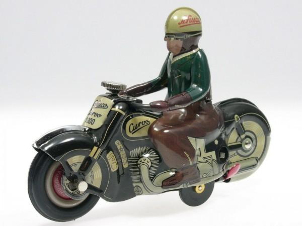 Schuco Motorrad CURVO schwarz Ansicht links