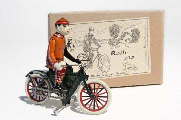 """DBS Radfahrermodell """"Rolli"""" mit Karton Ansicht rechts"""