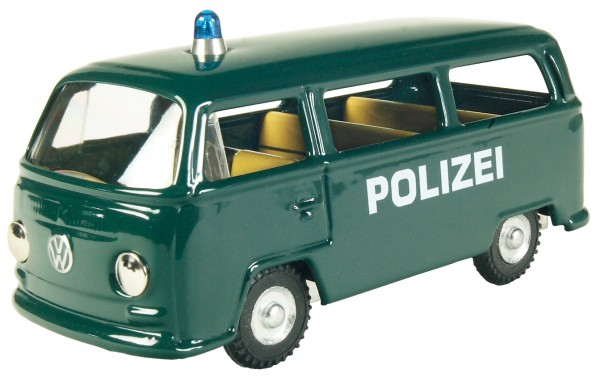 KOVAP VW Bus Polizeiauto Polizeimodell Streifenwagen Ansicht links