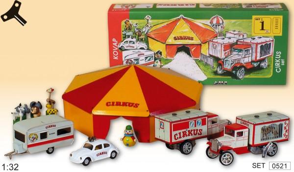 KOVAP Zirkus Set Totalansicht mit Karton