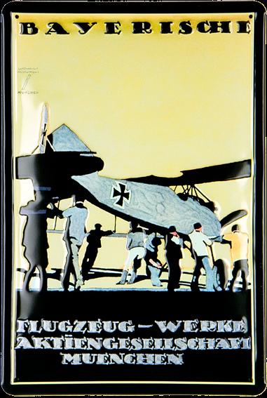Blechschild Bayerische Flugzeugwerke
