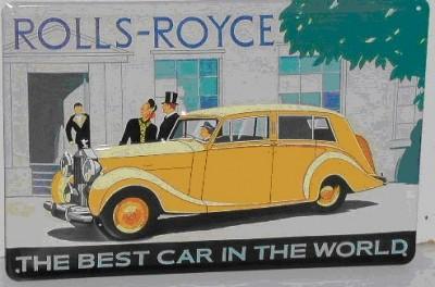 Blechschild Rolls Royce