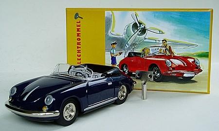 Porsche 356 B Cabrio mit Sammlerkarton Ansicht links